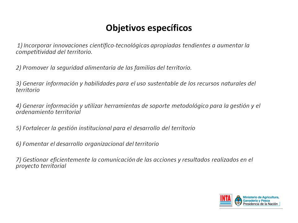 1) Incorporar innovaciones científico-tecnológicas apropiadas tendientes a aumentar la competitividad del territorio.