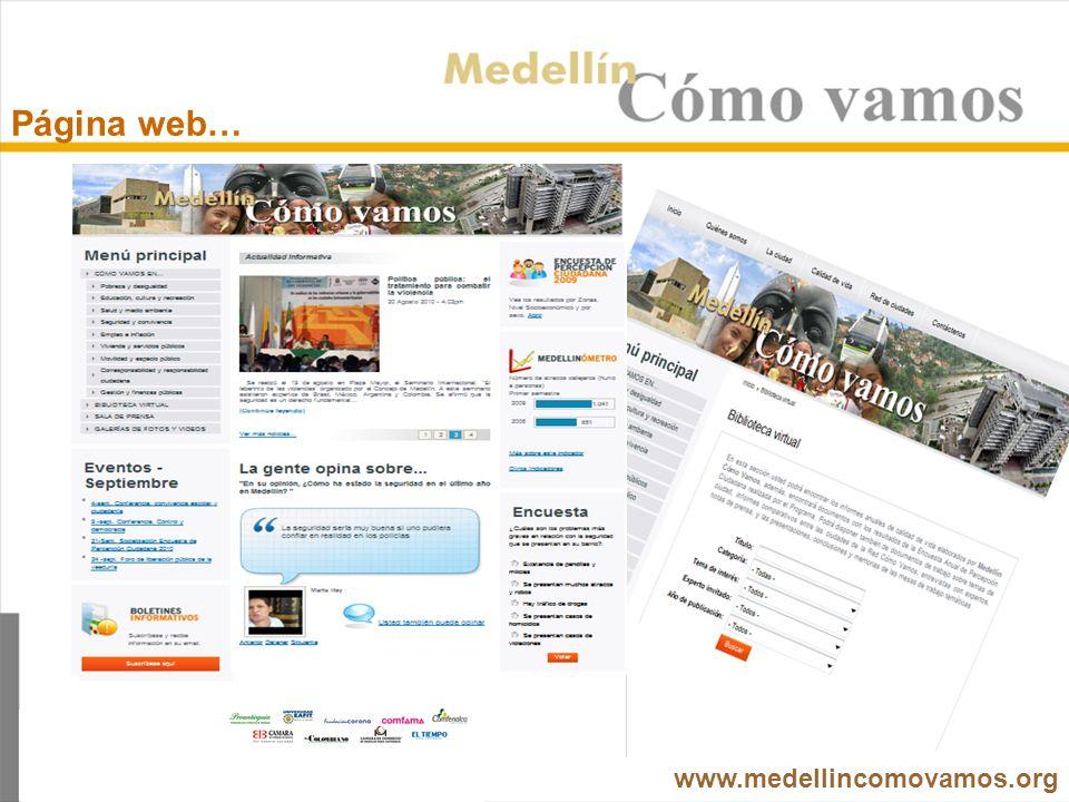 Página web… www.medellincomovamos.org
