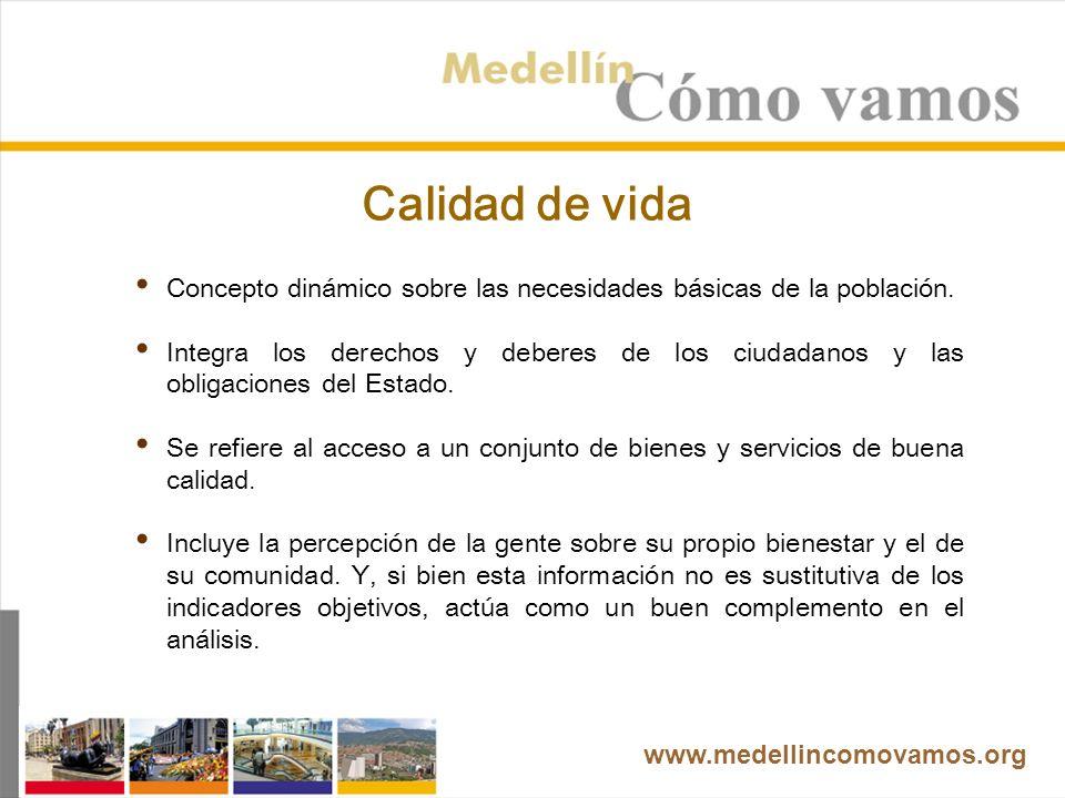 www.medellincomovamos.org Aproximación a impactos En la última campaña para la Alcaldía (año 2007) se mejoró la discusión pública en términos de que se unificó la información utilizada, y varios candidatos tomaron como referencia los datos suministrados por el Programa.
