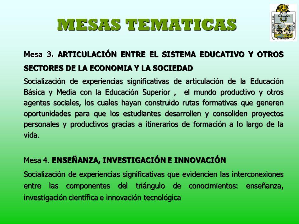 MESAS TEMATICAS Mesa 3.