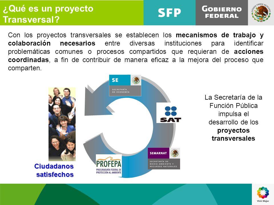 Con los proyectos transversales se establecen los mecanismos de trabajo y colaboración necesarios entre diversas instituciones para identificar proble