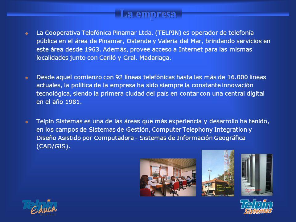 La Cooperativa Telefónica Pinamar Ltda. (TELPIN) es operador de telefonía pública en el área de Pinamar, Ostende y Valeria del Mar, brindando servicio