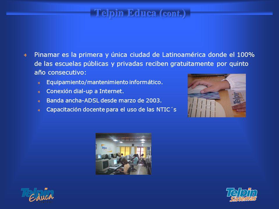Pinamar es la primera y única ciudad de Latinoamérica donde el 100% de las escuelas públicas y privadas reciben gratuitamente por quinto año consecuti