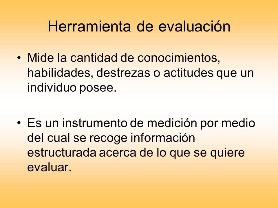 Características de una herramienta de evaluación Objetiva.