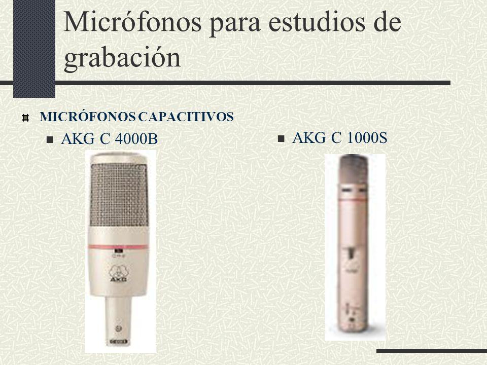 Micrófonos para estudios de grabación MICRÓFONOS CAPACITIVOS AKG C 4000B AKG C 1000S