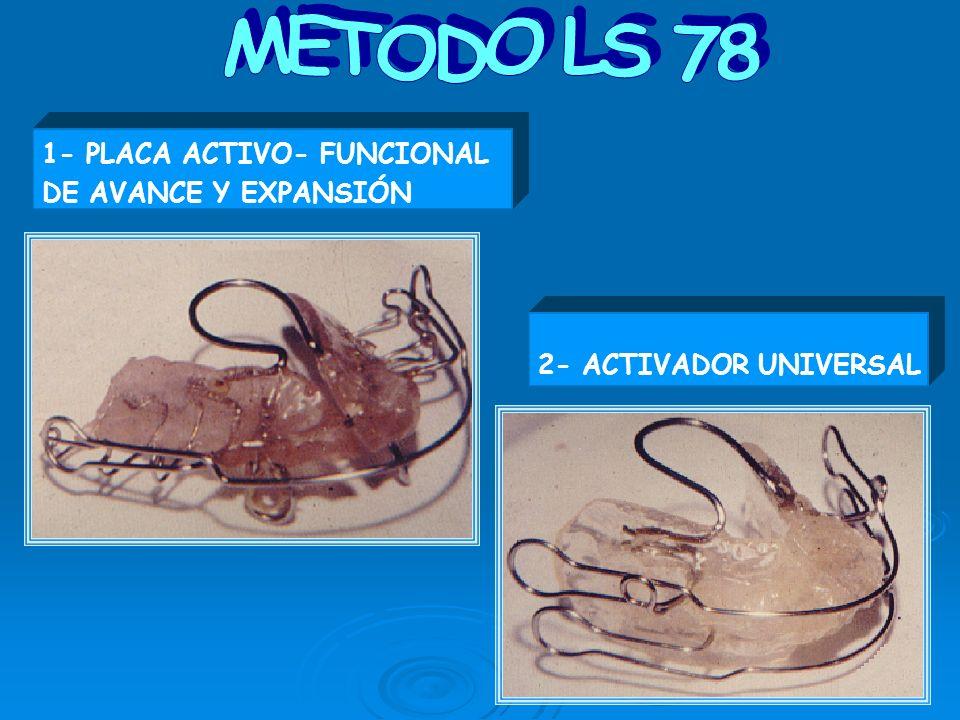 1- PLACA ACTIVO- FUNCIONAL DE AVANCE Y EXPANSIÓN 2- ACTIVADOR UNIVERSAL
