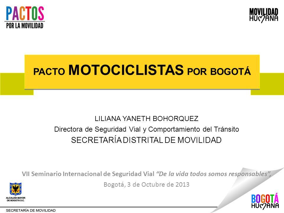 LILIANA YANETH BOHORQUEZ Directora de Seguridad Vial y Comportamiento del Tránsito SECRETARÍA DISTRITAL DE MOVILIDAD VII Seminario Internacional de Se