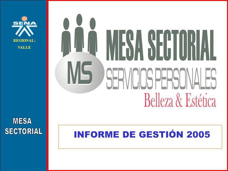 . REGIONAL: VALLE INFORME DE GESTIÓN 2005