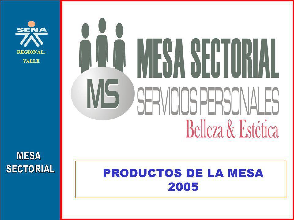 . REGIONAL: VALLE PRODUCTOS DE LA MESA 2005