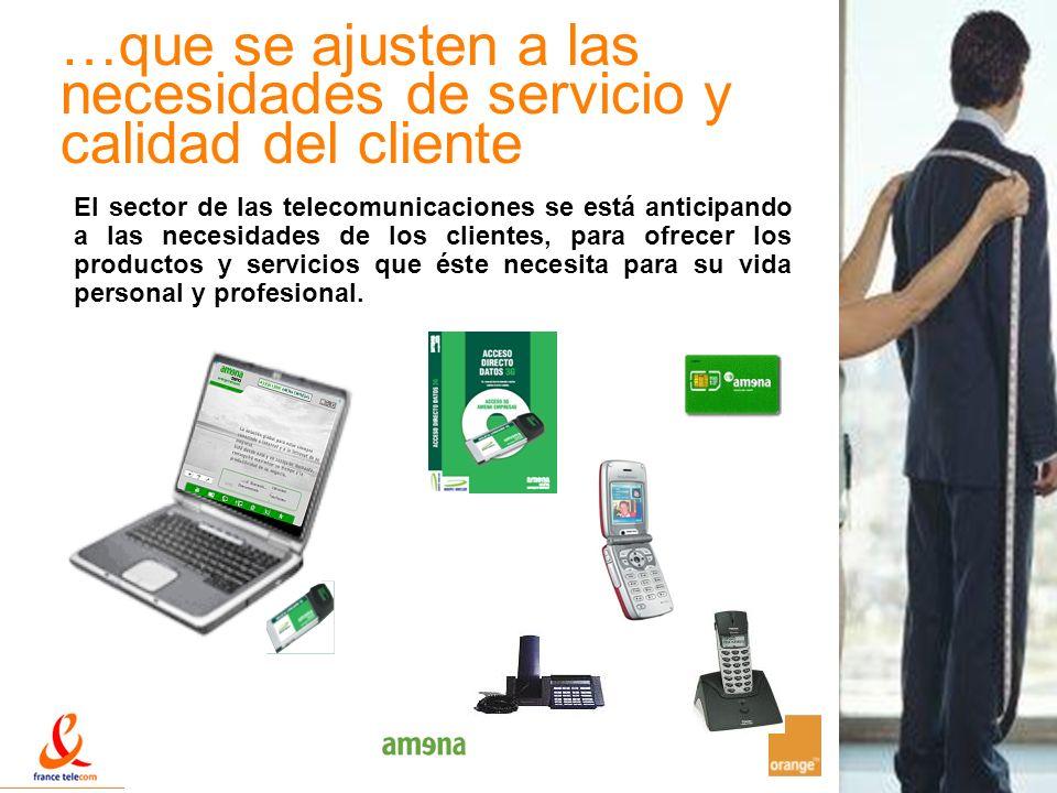 14 …que se ajusten a las necesidades de servicio y calidad del cliente El sector de las telecomunicaciones se está anticipando a las necesidades de lo
