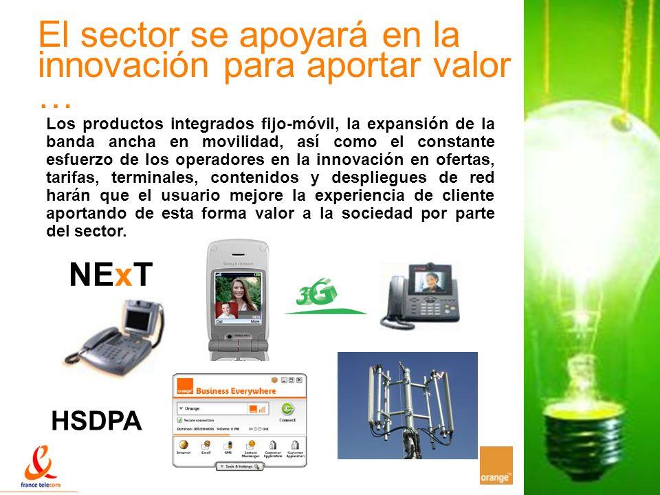 17 El sector se apoyará en la innovación para aportar valor … Los productos integrados fijo-móvil, la expansión de la banda ancha en movilidad, así co