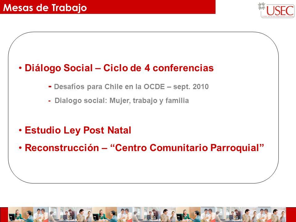 Diálogo Social – Ciclo de 4 conferencias - Desafíos para Chile en la OCDE – sept.