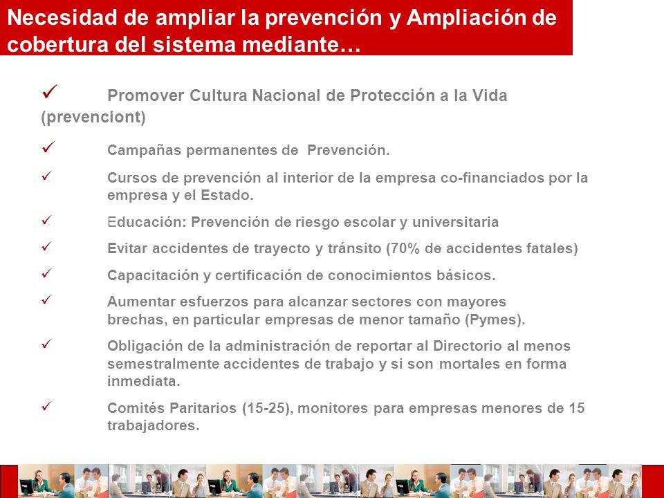 Promover Cultura Nacional de Protección a la Vida (prevenciont) Campañas permanentes de Prevención.