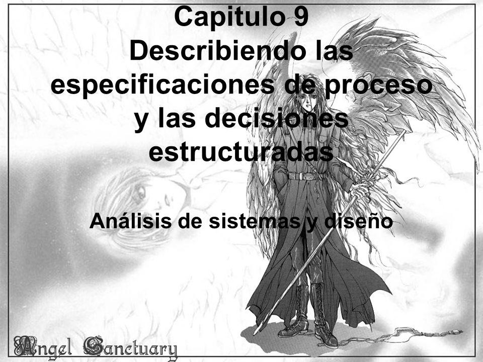 Capitulo 9 Describiendo las especificaciones de proceso y las decisiones estructuradas Análisis de sistemas y diseño