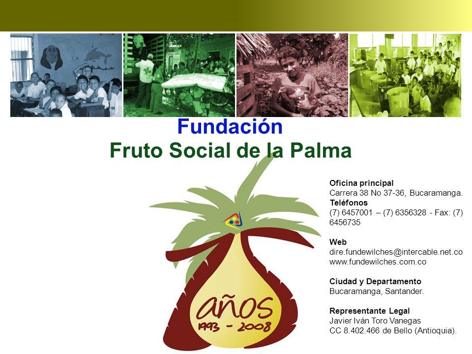 Fruto Social de la Palma Fundación Oficina principal Carrera 38 No 37-36, Bucaramanga.