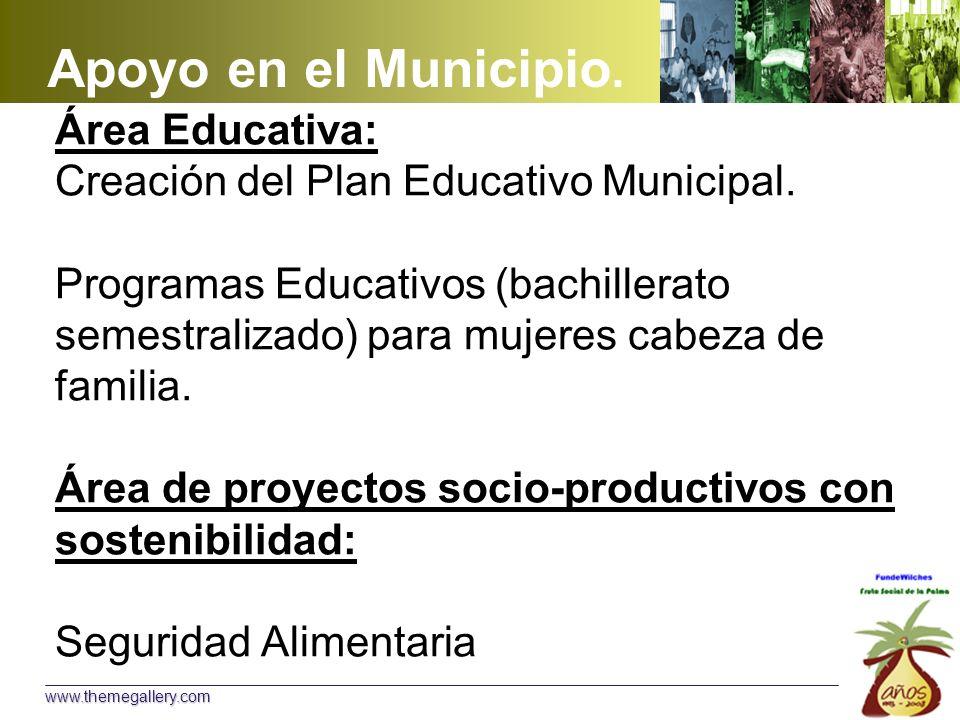 Área Educativa: Creación del Plan Educativo Municipal.