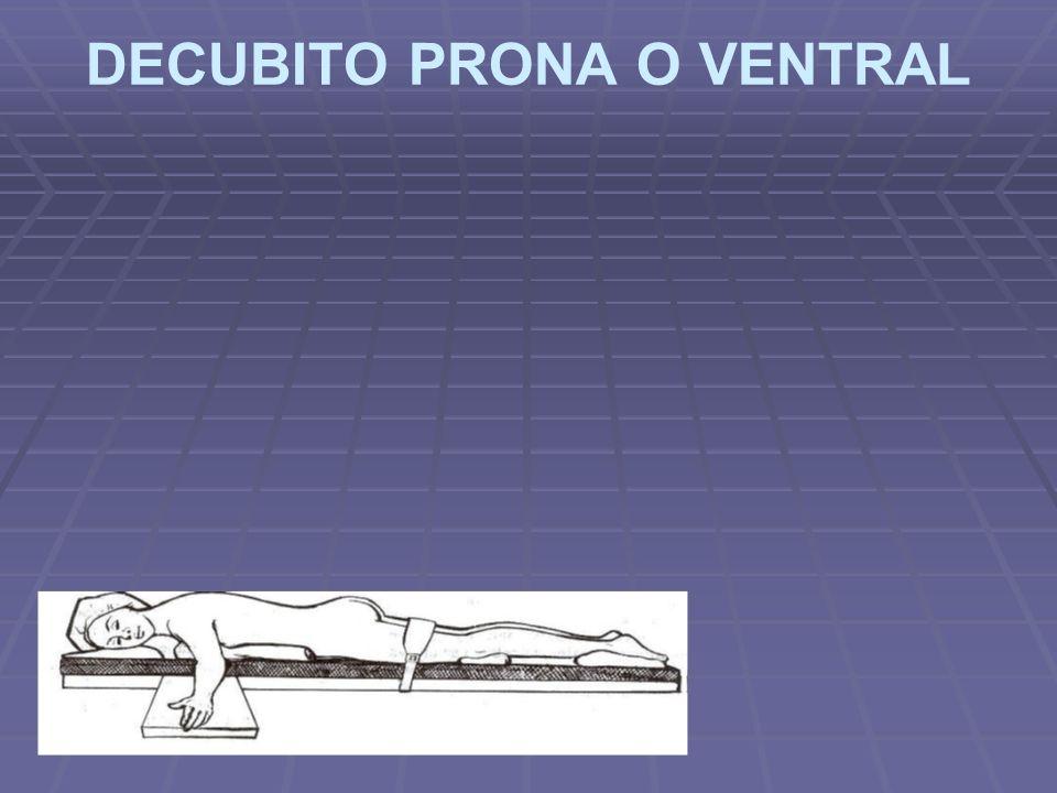 DECUBITO PRONA O VENTRAL