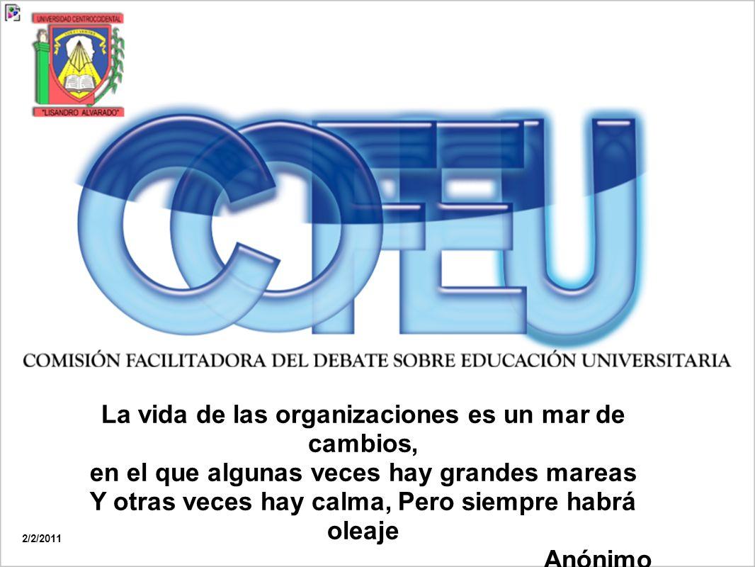 Facilitar la producción de información relevante de uso público para abordar la legislación de la Educación Universitaria venezolana, mediante una metodología que procure la participación de toda la comunidad universitaria, los actores sociales, económicos y políticos de la región, la cual podrá ser utilizada por los interesados para la toma de decisiones.