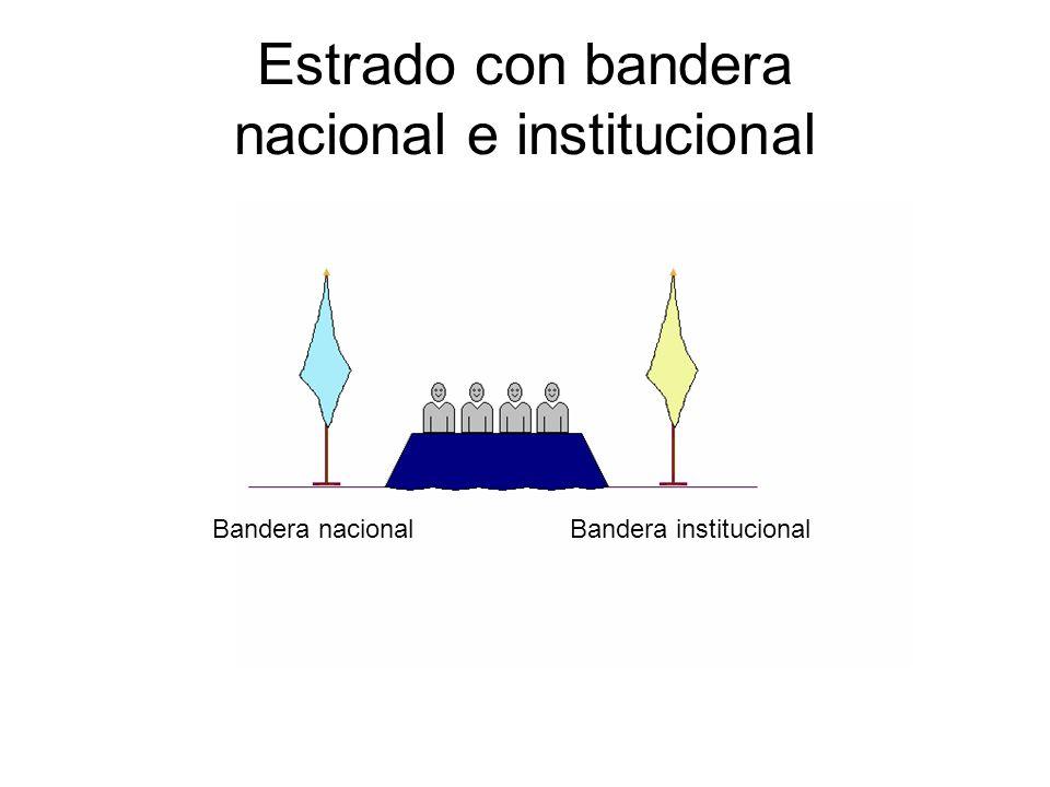 Estrado con bandera nacional e institucional Bandera nacional Bandera institucional