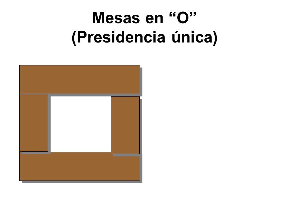 Mesas en O (Presidencia única)