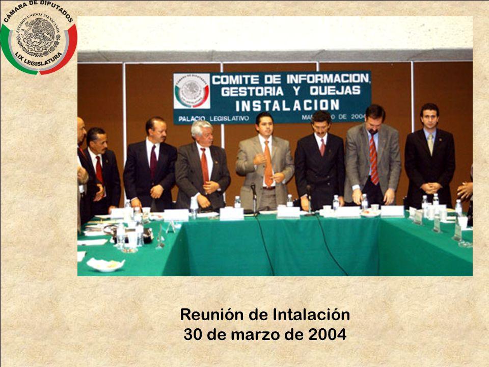 Reunión de Intalación 30 de marzo de 2004