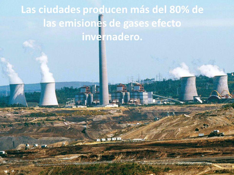 Las ciudades producen más del 80% de las emisiones de gases efecto invernadero.