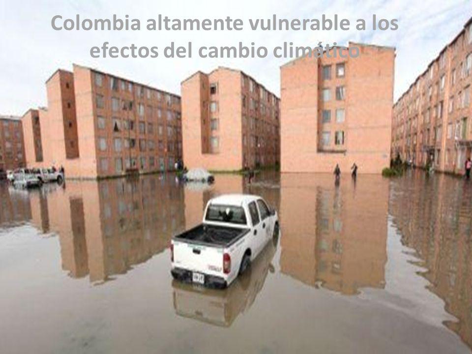 Colombia altamente vulnerable a los efectos del cambio climático