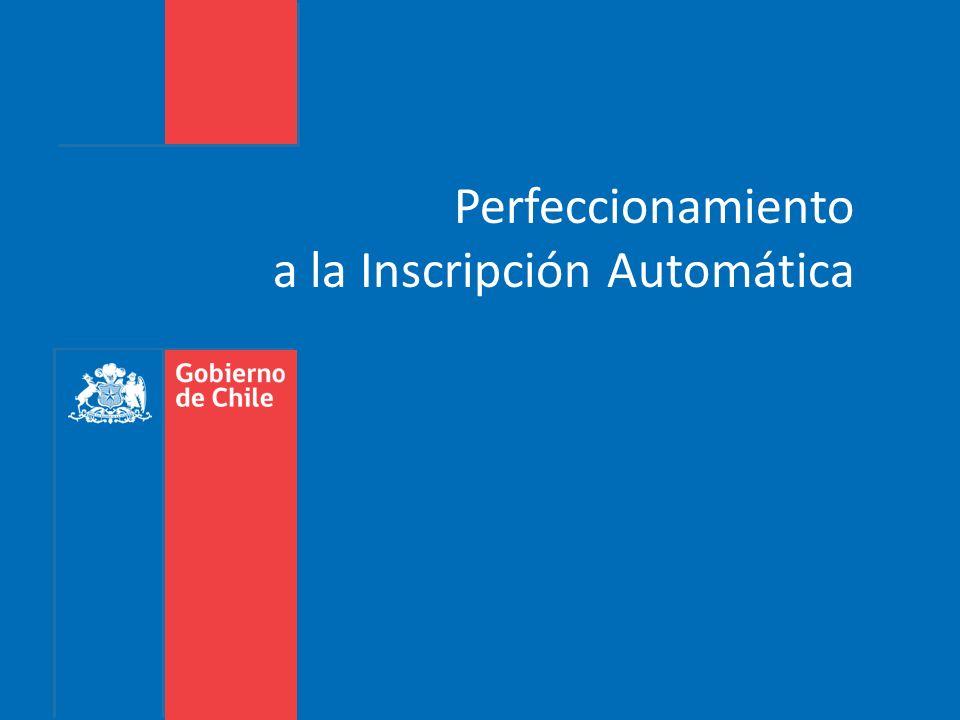 Perfeccionamiento a la Inscripción Automática
