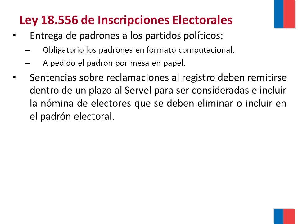 Entrega de padrones a los partidos políticos: – Obligatorio los padrones en formato computacional.