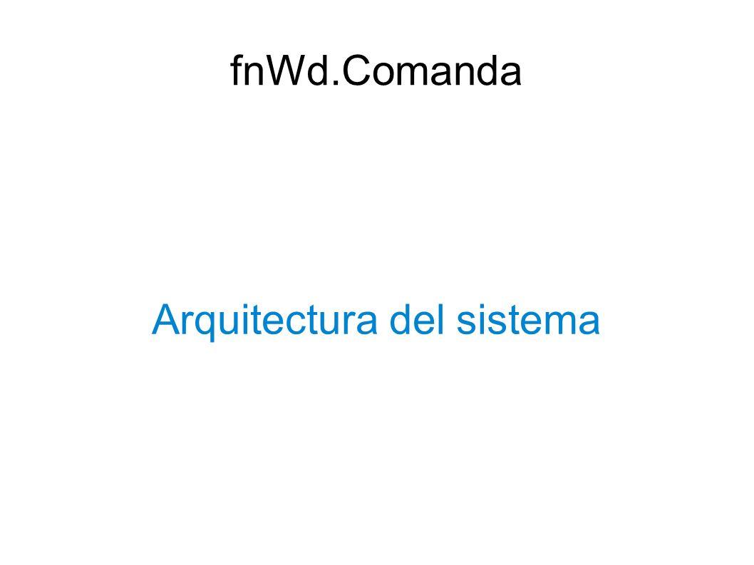 Arquitectura del sistema fnWd.Comanda