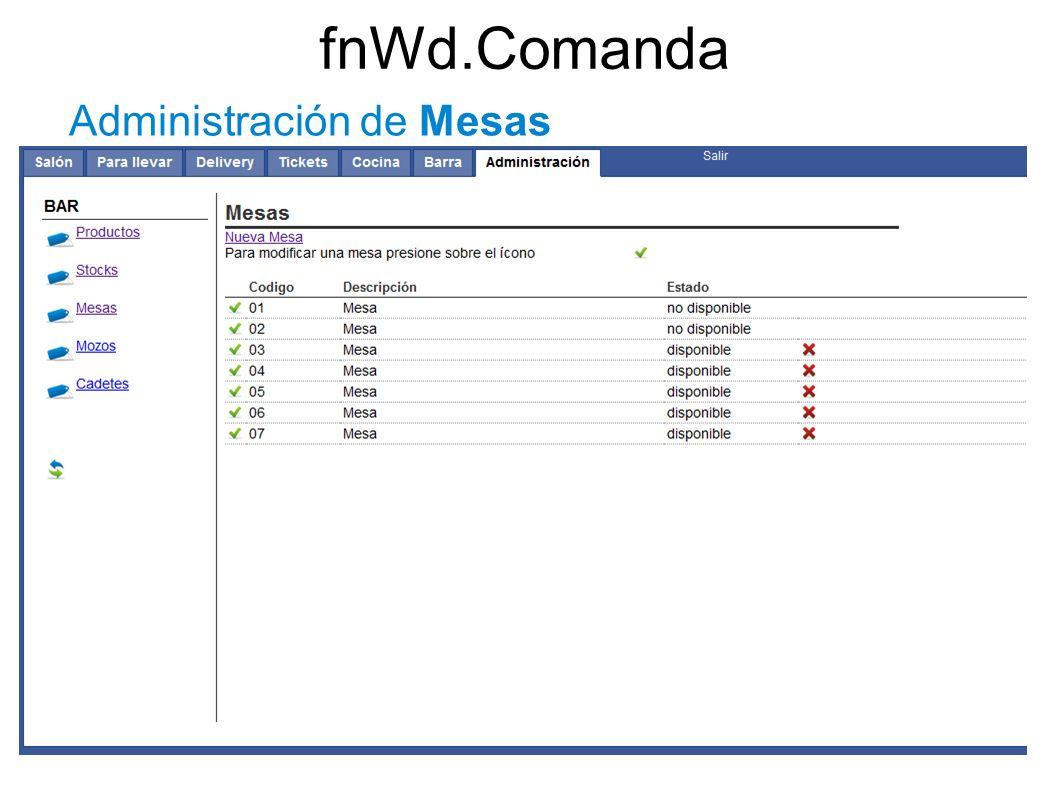 fnWd.Comanda Administración de Mesas