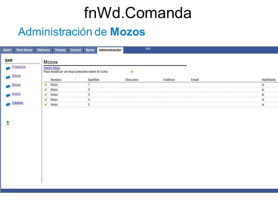 fnWd.Comanda Administración de Mozos