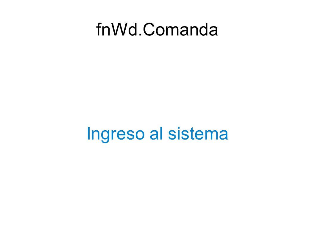Ingreso al sistema fnWd.Comanda