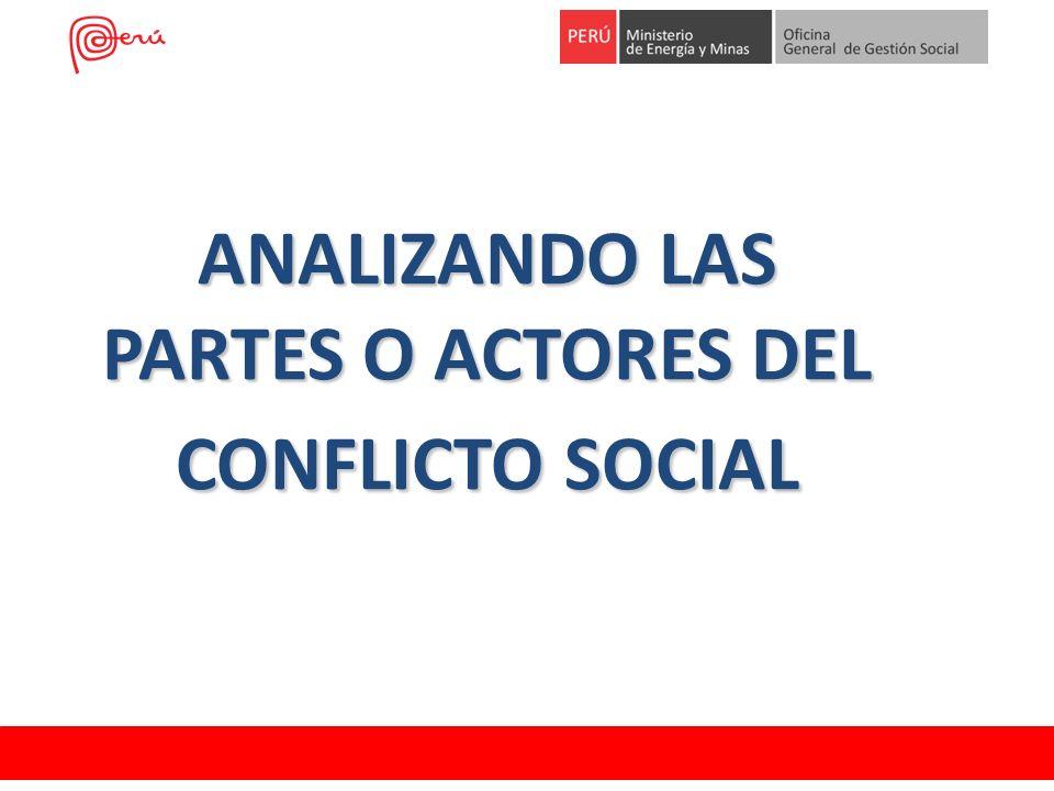 ANALIZANDO LAS PARTES O ACTORES DEL CONFLICTO SOCIAL