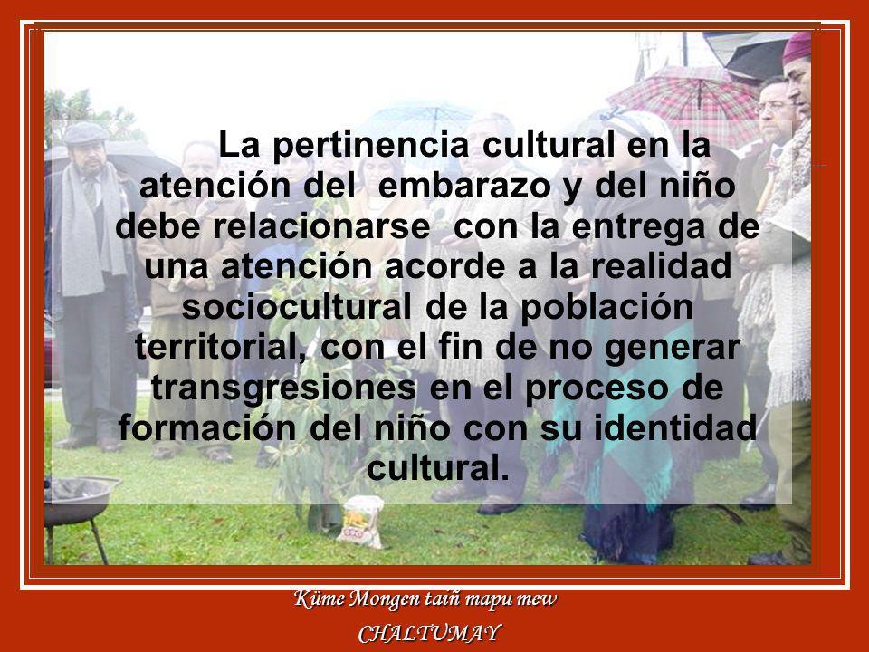 La pertinencia cultural en la atención del embarazo y del niño debe relacionarse con la entrega de una atención acorde a la realidad sociocultural de