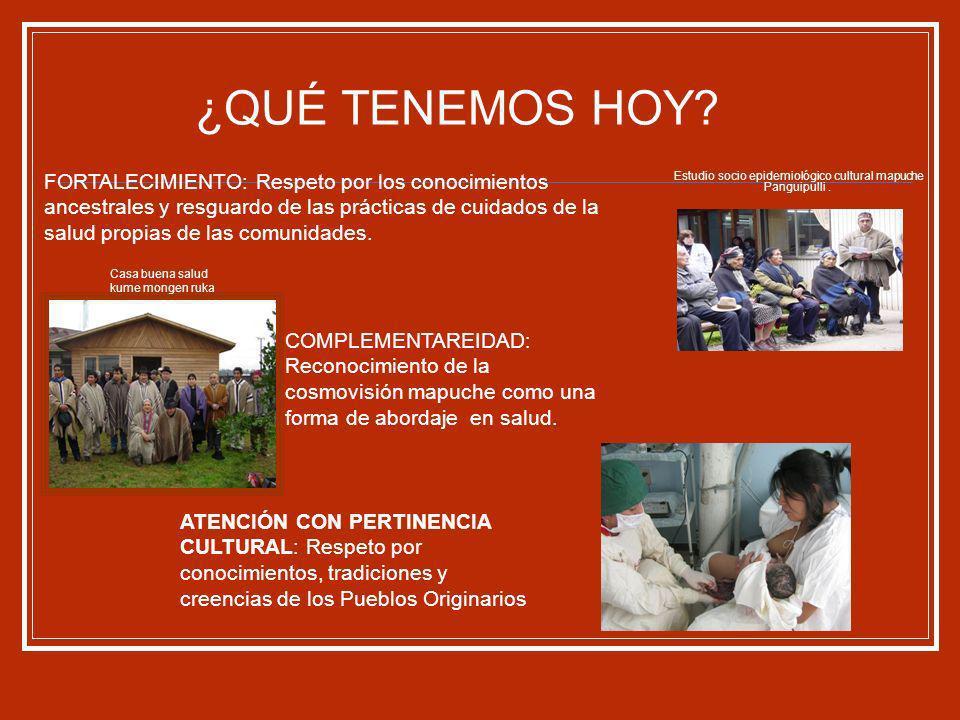 Algunos cuidados de la salud del niño y niña en contexto mapuche.
