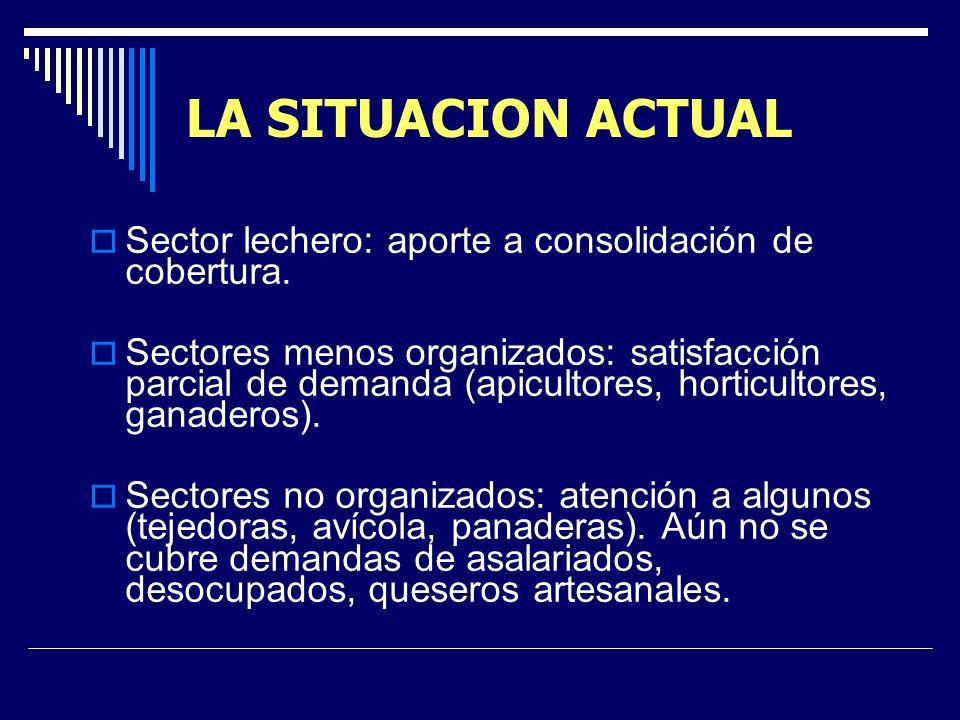 LA SITUACION ACTUAL MDRF como espacio de coordinación interinstitucional. CAP dinámico visible, coordinación real, visión positiva y legitimada por be