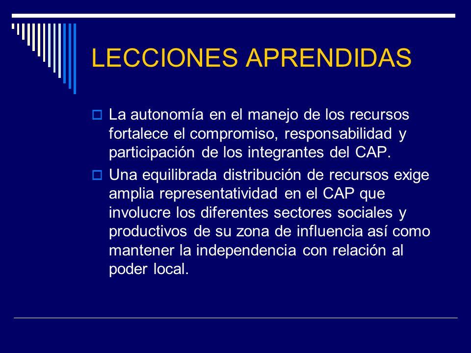 LECCIONES APRENDIDAS Para lograr un adecuado funcionamiento de las mesas de desarrollo rural y cumplir con los objetivos es necesario contar con alto