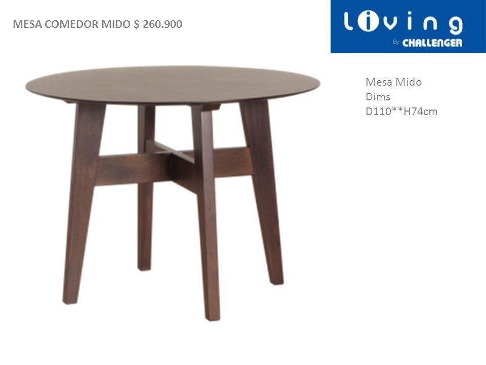 Mesa Mido Dims D110**H74cm MESA COMEDOR MIDO $ 260.900