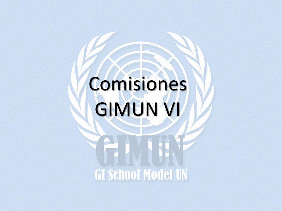 Comisiones GIMUN VI