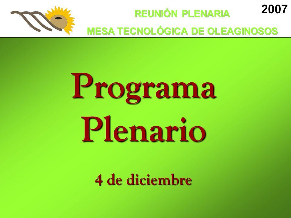 2007 TEMA PRINCIPAL EXPOSITORES Apertura IMS - Sr.