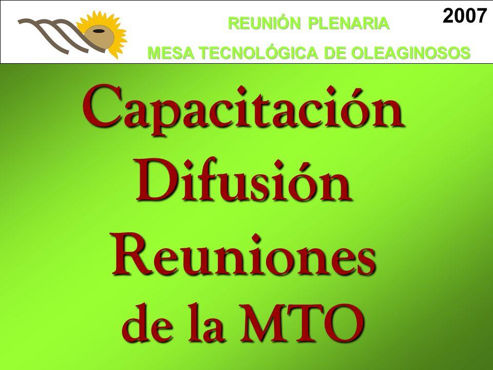 CapacitaciónDifusión Reuniones de la MTO 2007