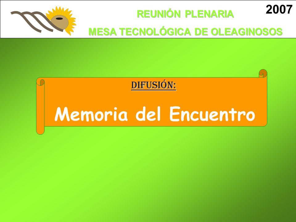 2007DIFUSIÓN: Memoria del Encuentro