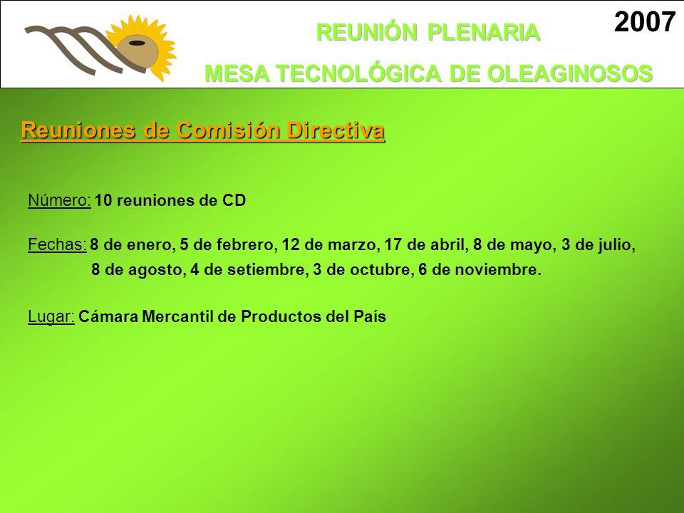 2007 Ing. Agr. Victoria Carballo Mesa Tecnológica de Oleaginosos
