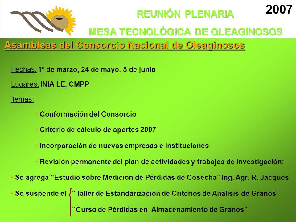2007 Semanas atrás se realizó en Mercedes el Primer Encuentro Nacional de Girasol organizado por la Mesa Tecnológica de Oleaginosos donde participó el subsecretario de Ganadería, Agricultura y Pesca, Ernesto Agazzi.