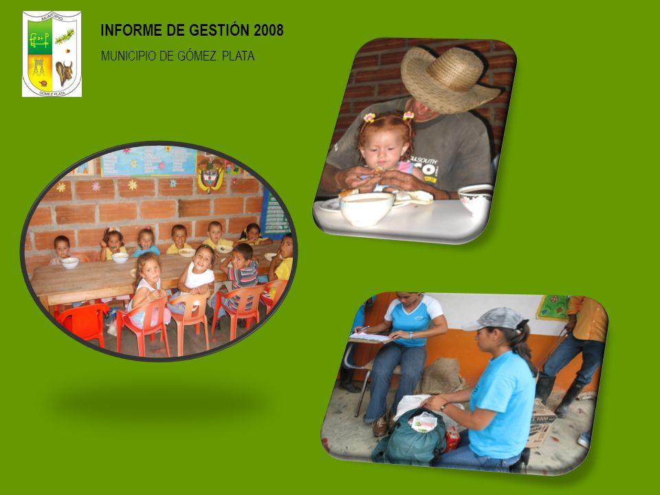 INFORME DE GESTIÓN 2008 MUNICIPIO DE GÓMEZ. PLATA