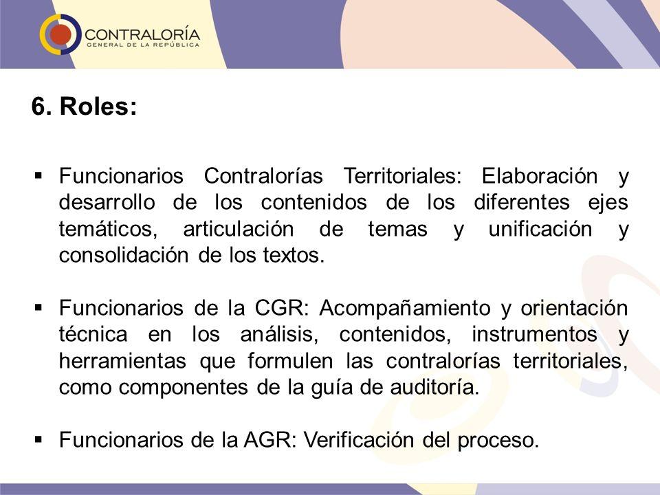 Funcionarios Contralorías Territoriales: Elaboración y desarrollo de los contenidos de los diferentes ejes temáticos, articulación de temas y unificac