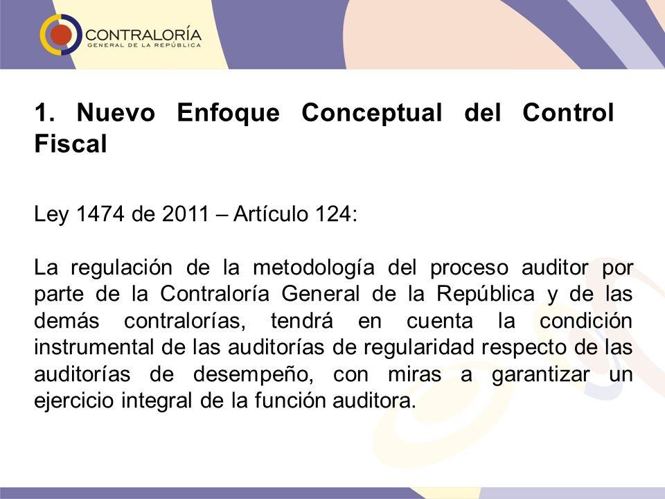 Ley 1474 de 2011 – Artículo 124: La regulación de la metodología del proceso auditor por parte de la Contraloría General de la República y de las demá