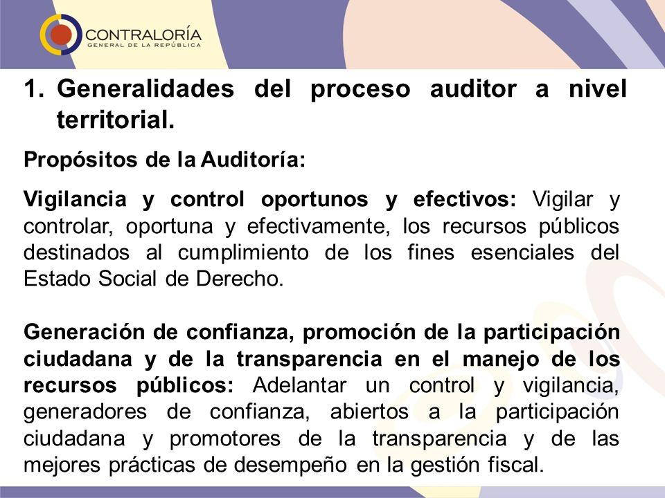 Vigilancia y control oportunos y efectivos: Vigilar y controlar, oportuna y efectivamente, los recursos públicos destinados al cumplimiento de los fin