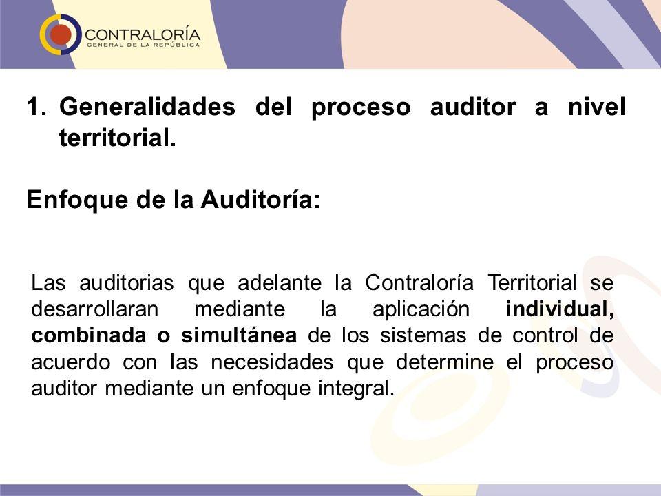 Las auditorias que adelante la Contraloría Territorial se desarrollaran mediante la aplicación individual, combinada o simultánea de los sistemas de c
